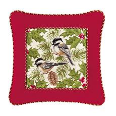 C&F Home Chickadee Pillow with Cord
