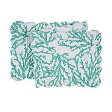 C&F Home Cora Seafoam Table Runner