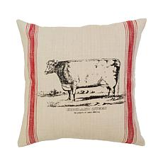 C&F Home Cow Feed Sack Feed Sack Pillow
