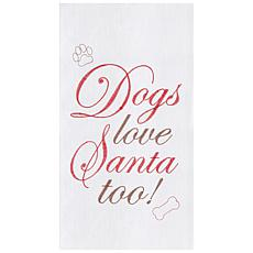 C&F Home Dogs Love Santa Towel Set of 2