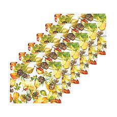 C&F Home Fall Leaves Hardboard Placemat Set of 6