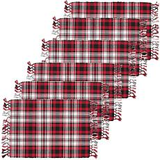 C&F Home Fireside Plaid Cotton Placemat Set of 6