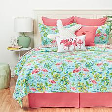 C&F Home Flamingo Garden Quilt Set - Twin