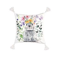 C&F Home Flowers Bunny I Pillow