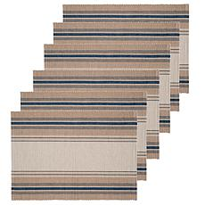 C&F Home French Blue Stripes Placemat Set of 6
