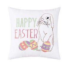 C&F Home Happy Easter Bunny Pillow