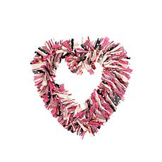 C&F Home Heart Rag Wreath