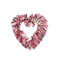 C&F Home Heart Rag Wreath