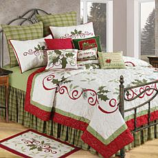 C&F Home Holiday Garland Full/Queen Quilt