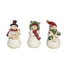 C&F Home Joy Snowmen Figurine Set of 3