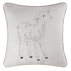 C&F Home Lamb Embroidered Pillow