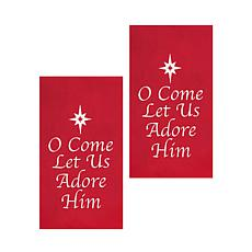 C&F Home O Come Let Us Adore Him Towel Set of 2
