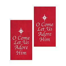 C&F Home O Come Let Us Adore Him Towel Set of 2