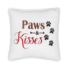 C&F Home Paws & Kisses Embroidered Pillow