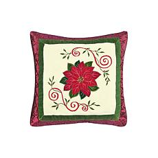 C&F Home Red Poinsettia Pillow
