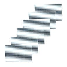 C&F Home Ticking Stripe Navy Placemat Set of 6