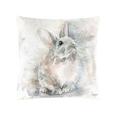 C&F Home Watercolor Rabbit Pillow