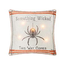 C&F Home Wicked Spider LED Pillow