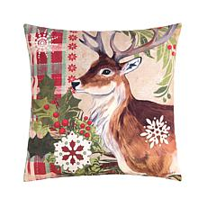C&F Home Winter Reindeer Pillow