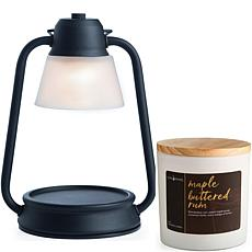 Candle Warmers Black Beacon Lantern Warmer & Maple Buttered Rum Candle