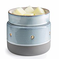 Candle Warmers Etc. Glazed Concrete 2-in-1 Deluxe Wax Warmer