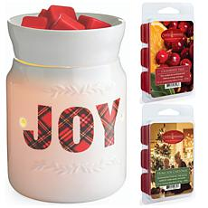 Candle Warmers Joy Wax Warmer with 2-pack 2.5 oz. Wax Melts