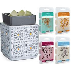 Candle Warmers Modern Cottage Illumination Fragrance Warmer w/ 4 Melts