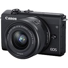 Canon EOS M200 Black Mirrorless Digital Camera w/ 15-45mm lens