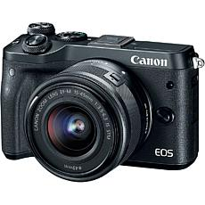 Canon EOS M6 Mirrorless Black Digital Camera with 15-45mm Lens