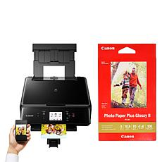 Canon PIXMA TS6120 Wireless All-In-One Printer w/100-pack Photo Paper