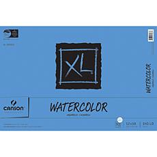 "Canson XL Watercolor Paper Pad 12"" x 18"" - 30 Sheets"