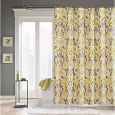 Capris Microfiber Shower Curtain - Yellow