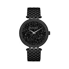 Caravelle Black Crystal Dial Bracelet Watch