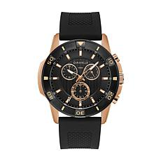 Caravelle by Bulova Men's Rosetone Chronograph Silicone Strap Watch