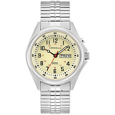 Caravelle by Bulova Stainless Steel Men's Expansion Band Watch