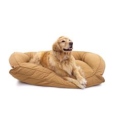 Carolina Pet Sm/Md Quilted Microfiber Bolster Bed with Orthopedic Foam