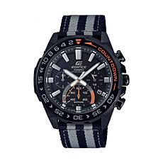 Casio Edifice Men's Solar Powered Nylon Strap Chronograph Watch