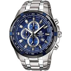 Casio Men's Edifice Stainless Steel Blue Dial Chronograph w/Tachymeter