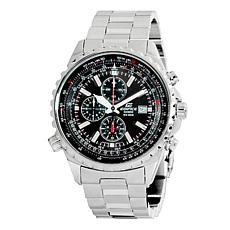 Casio Men's Edifice Stainless Steel Notched Bezel Chronograph Watch