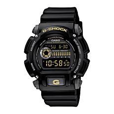 Casio Men's G-Shock Black with Goldtone Detail Watch