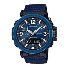 Casio Pro Trek Men's Triple Sensor Solar-Powered Blue Nylon Watch