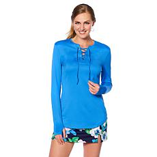 Caya Costa Lace-Up Top with UV Protection