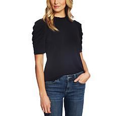 CeCe Puff Sleeve Crepe Top
