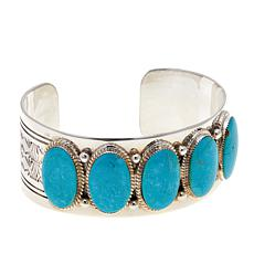 Chaco Canyon 5-Stone Oval Kingman Turquoise Cuff