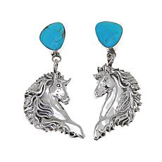 "Chaco Canyon Kingman Turquoise ""Horse"" Earrings"