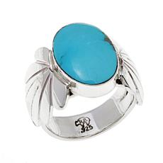 Chaco Canyon Kingman Turquoise Oval Ring
