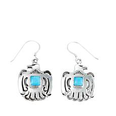 Chaco Canyon Kingman Turquoise Thunderbird Earrings