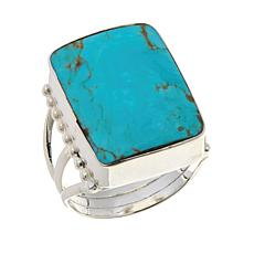 Chaco Canyon Rectangular Kingman Turquoise Ring