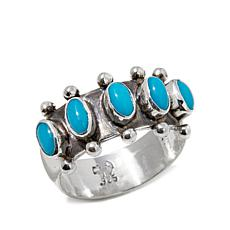 Chaco Canyon Sleeping Beauty Turquoise Band Ring