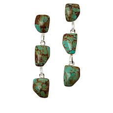 Chaco Canyon Sterling Silver 3-Stone Drop Earrings